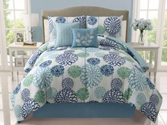 Cameron Reversible 5pc Comforter Set - King