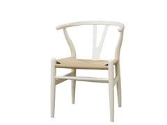 Wishbone Ivory Wood Y Chair