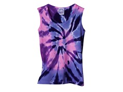 Girls Ribbed Tank - Purple Pink (XS)