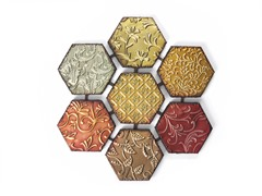 Patchwork Hexagon Wall Décor