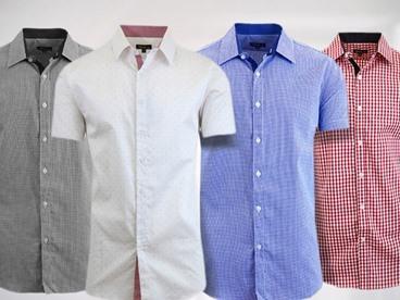 Galaxy by Harvic Short Sleeve Dress Shirts
