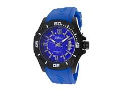 Elini Barokas Blue Silicone Blue Dial Watch