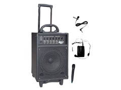 300W Dual Channel Wireless Rechargeable Portable PA Sys