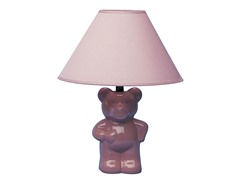 ORE Ceramic Teddy Bear Lamp - Pink