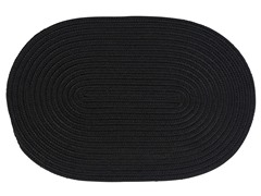 Black Braided-Texture Rugs