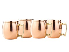 Solid Copper Moscow Mule Shots - 2 Oz. S/4