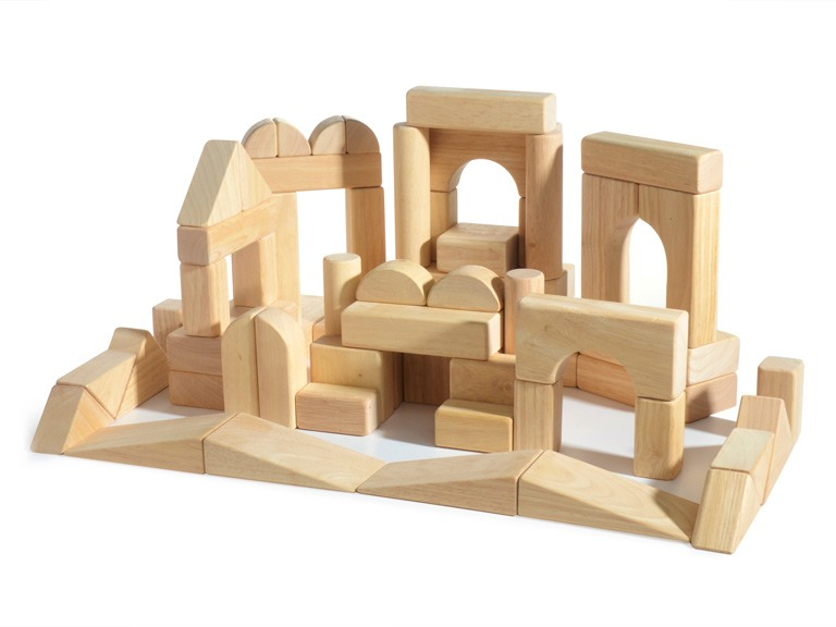 Melissa & Doug 60-Piece Wooden Block Set