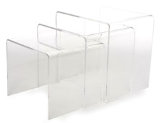 Mercutio 3-Piece Acrylic Nesting Tables