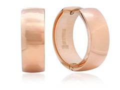 18 kt Rose Gold Plated 15mm Huggies