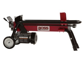 Boss Industrial 7 Ton Electric Log Splitter, Red