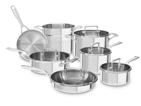 KitchenAid Tri-Ply Stainless 12-Pc Cookware Set