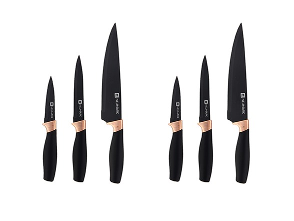 Image of Diamond Home Black/ Copper Handle Knife Set