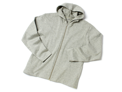 ALPS Women's Grey Jersey Knit Hoodie