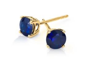 6mm Sapphire Stud Earring