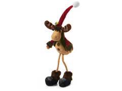 Sit or Stand Santa Moose 15""