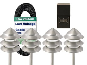 Low Voltage Metal Path Light Kit