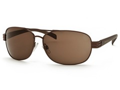 Med Brown/Brown Aviator 21 Sunglasses