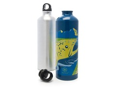 Fly Fishing and Silver Aluminum Water Bottle 2-Pack