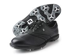 Superlites Inlay Saddle Golf Shoe - Black
