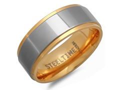 Titanium Two-Tone Band Ring