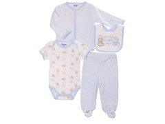 Blue Bear 4-Pc Cardigan Layette (0-9M)