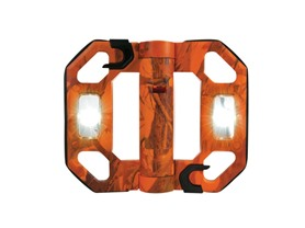 LED Mini Folding Work Light; Orange Camo