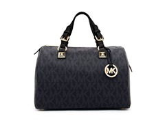Michael Kors Logo Grayson Large Satchel, Black