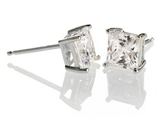 Edgewater Cubic Zirconia Sterling Silver Earring