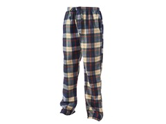 Men's Fleece Loungepants, Blk/Tan/Red Plaid
