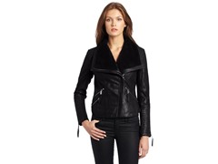 BCBGeneration Vita Leather Jacket, Black