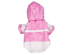 Pink & White Two-Tone Raincoat