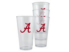 Alabama Plastic Pint Glasses 4-Pk