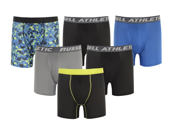 Russell Performance Boxer Briefs 6-Pack