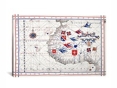 Nautical Map ca 1571 26x18