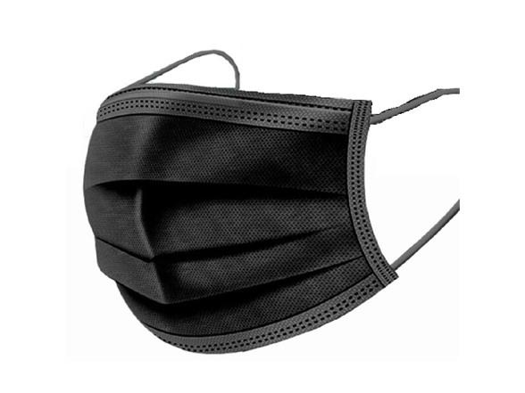 Black Disposable Non-Medical 3-Ply Face Masks