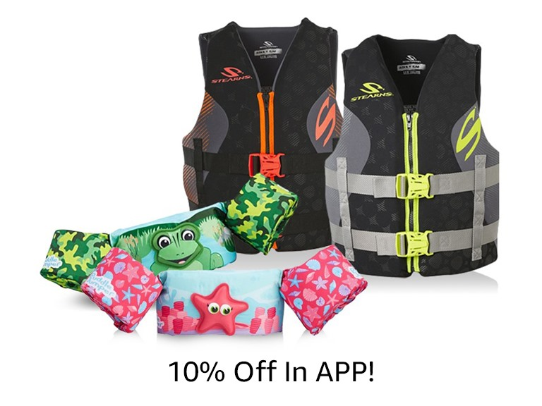 Stearns Life Jackets & Puddle Jumpers