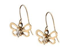 14kt Gold Butterfly Earrings