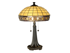 "Jewel Square Table Lamp 16""x23.5"""