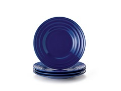 Blue Salad Plates Set of (4) 8""