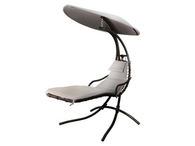 Infinity Lounger with Beige Cushion
