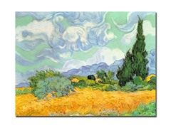Van Gogh Wheatfield with Cypresses 1889