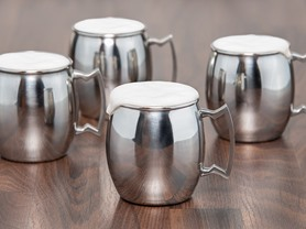 "Old Dutch 16oz. ""Steelii"" Stainless Steel Moscow Mule Mugs-S/4"