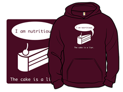 The Cake is a Liar Remix Pullover Hoodie