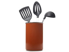 Metal Utensil Holder - Orange