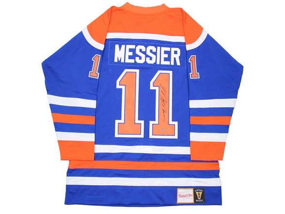 brand new b7d18 ba35b Mark Messier Signed Oilers M & N Jersey