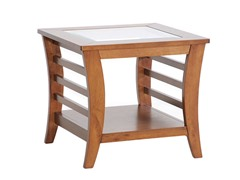 Allison End Table w/Glass Inlay