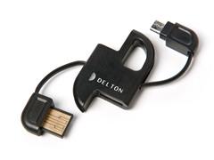 microUSB Keychain Sync/USB Data Cable