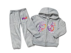 Toddler Girls Grey Fleece Set