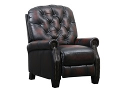 Tivolia Tufted Leather Recliner