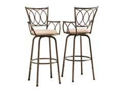 Homelegance Scroll Adj Barstool 2pk